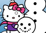 Colorir Hello Kitty no Natal