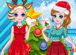 Frozen Festa de Natal da Elsa e Anna