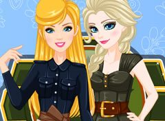 Barbie e Elsa Look de Exército