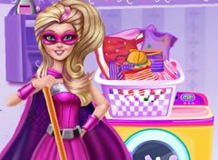 Barbie Super Princesa Dia de Faxina