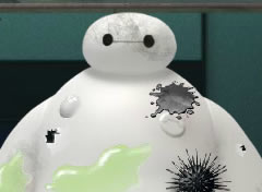 Big Hero 6 Limpe o Baymax