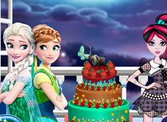 Bolo Monster High e Frozen
