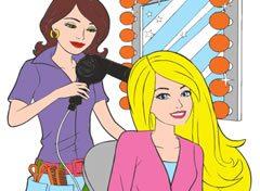 Colorir A Barbie No Salão De Beleza Jogos Online De Menina