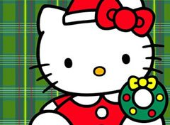 Colorir Hello Kitty no Natal 2