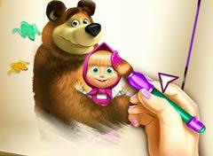 Colorir Masha E O Urso Jogos Online De Menina