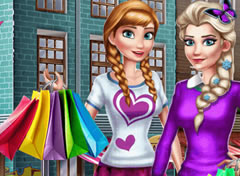 Elsa e Anna no Shopping