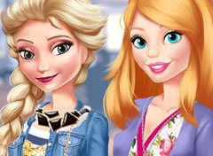 Elsa e Barbie Look do Dia dos Namorados