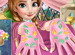 Frozen Anna no Spa da Unhas