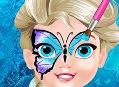 Frozen Bebe Elsa Borboleta No Rosto Jogos Online De Menina
