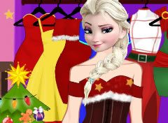 Frozen Elsa Moda do Natal