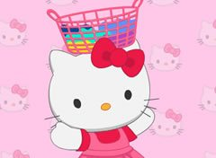 Hello Kitty Lavando Roupa