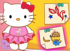 Hello Kitty Pintura do Rosto