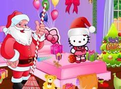 Limpeza com Papai Noel e Hello Kitty