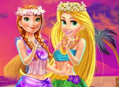 Rapunzel e Anna no Hawaii
