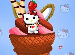 Sorvete da Hello Kitty
