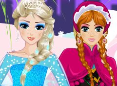 Vista Anna e Elsa do Frozen