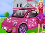 Lavando o Carro da Barbie