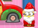 Minion Conserto do Carro no Natal