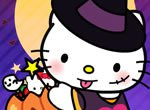 Vista Hello Kitty para o Halloween